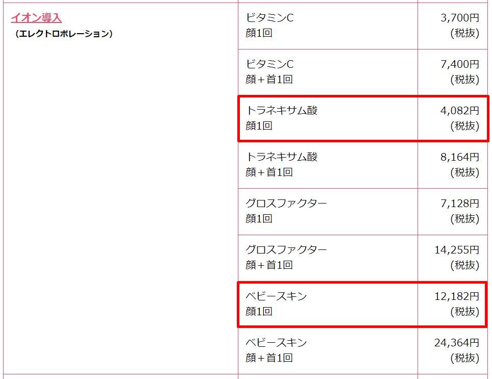 shounanbiyou-menu-price